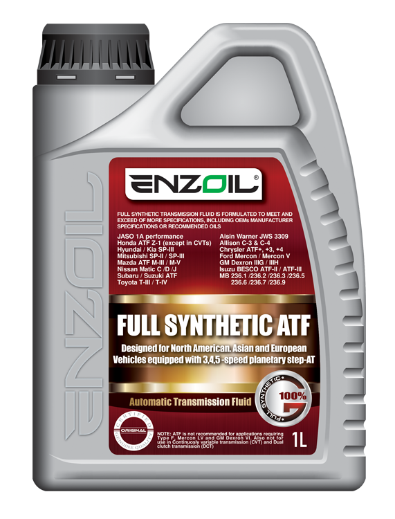 FULL SYNTHETIC AUTOMATIC TRANSMISSION FLUID – Enzoil Asia Pacific